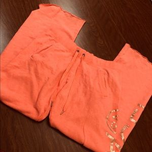 Victoria's Secret Angel Gold Lounge Pants Raw Edge